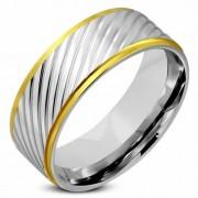 Arany ezüst színű nemesacél gyűrű ékszer