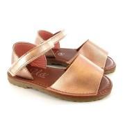 Sandale spaniole fetite roz metalizat