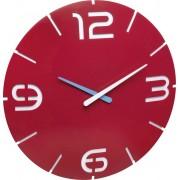 Ceas de perete cuarţ 350 x 35 mm roşu TFA Dostmann 60.3047.05