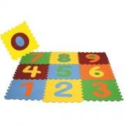 Tatame Tapete Eva Bebê Infantil Emborrachado 28x28cm Kit 10 peças Com Números destacáveis