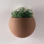 Kamena zidna saksija sa magnetom LUNA - Braon - 00934