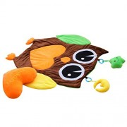 "Serdic Large Plush Baby Tummy Time Play Mat Crawling Activity Mat Playing Rug Pillow Pad Gift (37.8""x34.3"")"