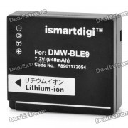 Bateria de litio ismartdigi DMW-BLE9 7.2V 940mah para Panasonic DMC-GF3
