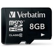 Memorija micro SD 8GB Verbatim Class 10, bez adaptera 44012