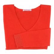 Les Poulettes Bijoux Pull Femme 100% Cachemire Oversize Classics Rouge Corail - taille M