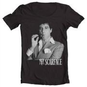Tony Montana Portrait Wide Neck Tee, Wide Neck T-Shirt