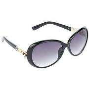 HRINKAR Men's Grey Mirrored Over-sized Sunglasses