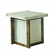 Industrial Table with Oak timber & Aluminium Sides