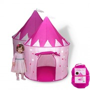 Foldable Play tent/house toy for Indoor & Outdoor Use Girl Princess Castle Tent Outdoor Garden Folding Toy Tent by Aofit Pink