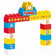 Primele cuburi de construit, 75 de piese de constructie multicolore, usor de imbinat