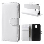 Кожен калъф за HTC Desire 526 / 526G+ Dual SIM - бял