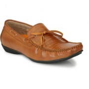 El Paso Men's Tan Artificial Leather Laceup Casual Loafer Shoes
