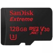 Карта памет Sandisk Extreme, microSDXC, 128GB, 100MB/s, Class 10, U3, SD adapter, SD-SQXAF-128G-GN6MA