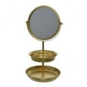 Merkloos Sieraden/make-up etagere met spiegel