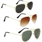 David Martin Aviator Sunglasses(Black, Green, Brown)