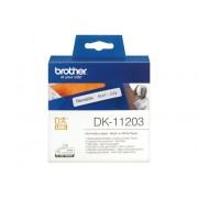 Brother Consumible Original Brother DK11203 Etiquetas precortadas para carpetas (papel térmico). 300 etiquetas blancas de 17 x 87 mmpara impresoras...