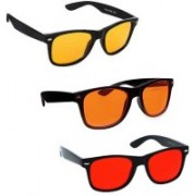 SRPM Wayfarer Sunglasses(Orange, Red, Yellow)