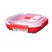 Cutie alimente din plastic pentru microunde Sistema 880 ml