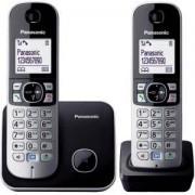 Безжичен DECT телефон Panasonic KX-TG 6812FXB, Сребрист, 1015111