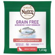 1,4кг Grain Free Adult Cat Nutro, суха храна за котки със сьомга и бяла риба
