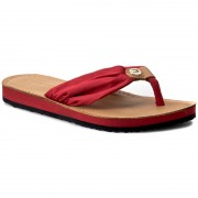 Flip flop TOMMY HILFIGER - Leather Footbed Beach Sandal FW0FW00475 Tango Red 611
