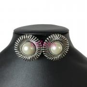 Cercei clips perla