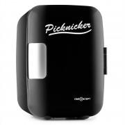 oneConcept Picknicker, черен, термобокс с функция за охлаждане / задържане на топлина, мини, 4 л, сертификат eMark (CO4-Picknicker-B)