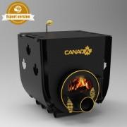 Печка на дърва Canada 01 за огрев и готвене със стъкло и защита