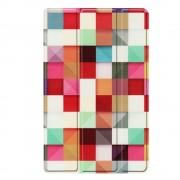 Shop4 - Samsung Galaxy Tab A 10.1 (2019) Hoes - Smart Book Case Gekleurde Vierkanten