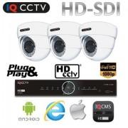 Kamerový systém HD SDI - 3x 1080P kamera s 30m IR + HD SDI DVR