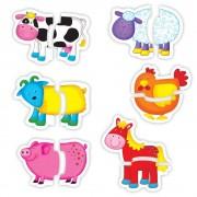 Set de 6 puzzle speciale pentru bebelusi Baby Puzzle Galt, 2 piese, 18 luni+