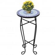 vidaXL Mozaikowy stolik boczny, niebiesko-biały