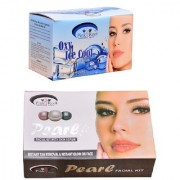 Pink Root Oxy Ice Cool Bleach 250gm and Pink Root Pearl Facial Kit 83gm