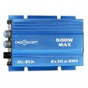 oneCOncept мини усилвател за кола 500W син (W2-MD-XA-A2-BL)