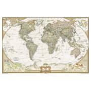 Prikbord Wereldkaart (29PR) politiek, 296 x 193 cm | National Geographic