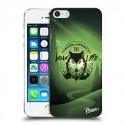 Műanyag átlátszó tok az alábbi mobiltelefonokra Apple iPhone 5/5S/SE - Wolf life