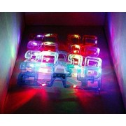 1 DOZEN 2018 Happy New Year 2018 LED Party Supplies Light Up Flashing Multi-Color Party New Years Eve Times Square Sun Glasses, Assorted Colors, 12-Pack