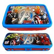 KP Ski Disney marvel Avenger printed Combo Set Of Beautiful Lunch Box & Double Level Pencil Box For Kids Boys & girls