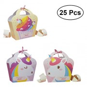 YeahiBaby 25Pcs Unicorn Party Favor Bags Paper Gift Bag for Parties Shopping Wedding Goody