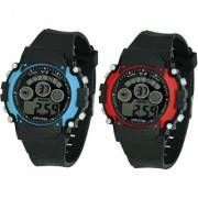 Crude Smart Combo Of Mini Digital Watch-rg592 With Pu Strap for girls (Kid's)