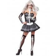 Deguisetoi Déguisement femme squelette sexy noir et blanc - Taille: S (38/40)