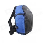 JB77-SBL Nylon solo hombro mochila bolsa para Canon / Nikon / Sony / Samsung + mas - azul + Negro