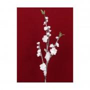 Bellatio flowers & plants Perzik kunsttak met sneeuw 78 cm