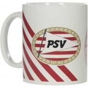 PSV - Mok Rood/wit - Gevuld met luxe verpakte toffees - In cadeauverpakking met gekleurd lint