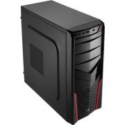 Gabinete Aerocool V2X Avance Rojo USB3.0, gamer sin fuente