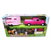 NEWRAY CLASSIC FUNTIME HORSE PLAYSET - TRUCK AND TRAILER WITH FIGURES AND ACCESSORIES