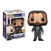 Funko Pop Bloody John Wick Limited Chase Exclusive Sticker Movie