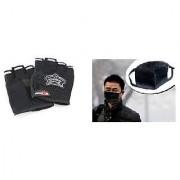 Black Knighthood Half Gloves+Anti pollution face mask