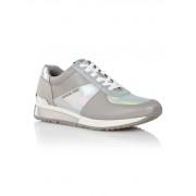 Michael Kors Allie sneaker van leer met metallic details