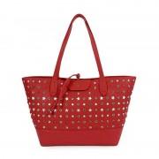 Patrizia Pepe Borsa Shopping a Spalla con Pochette Interna 2V7193 Stars Red